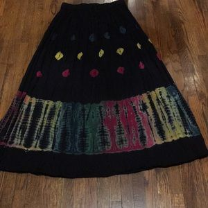 Lucky Brand Dungarees tie die cotton skirt Sz S